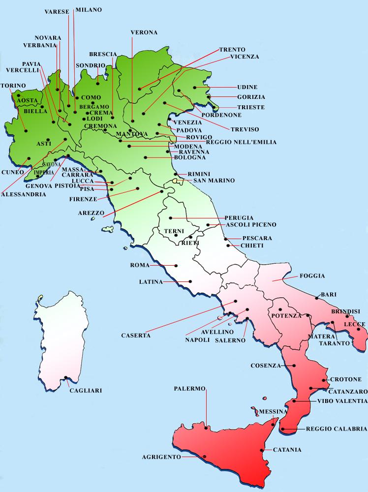 Mappa geografica dei clan e clanwar pordenone udine - Bagna ascoli piceno ...